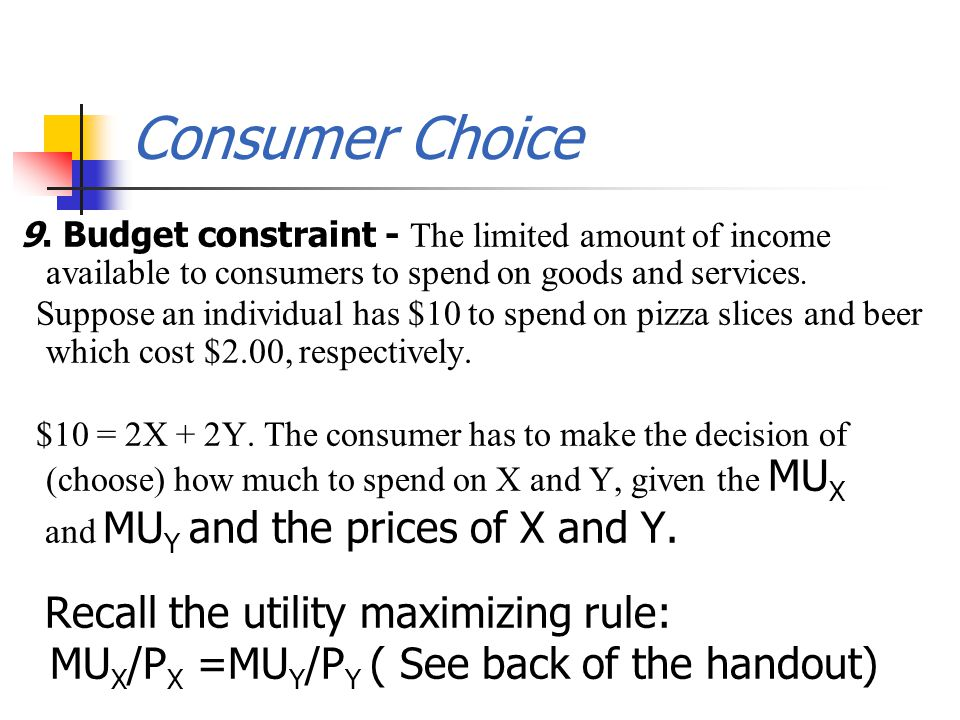 Consumer Choice 9.