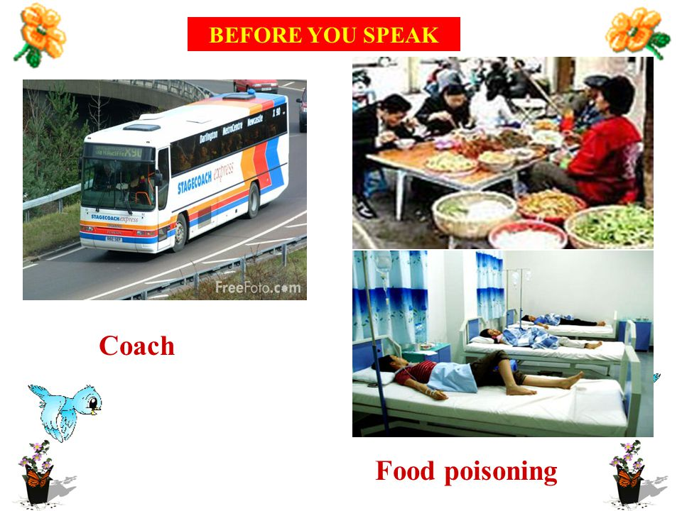 Coach Food poisoning BEFORE YOU SPEAK