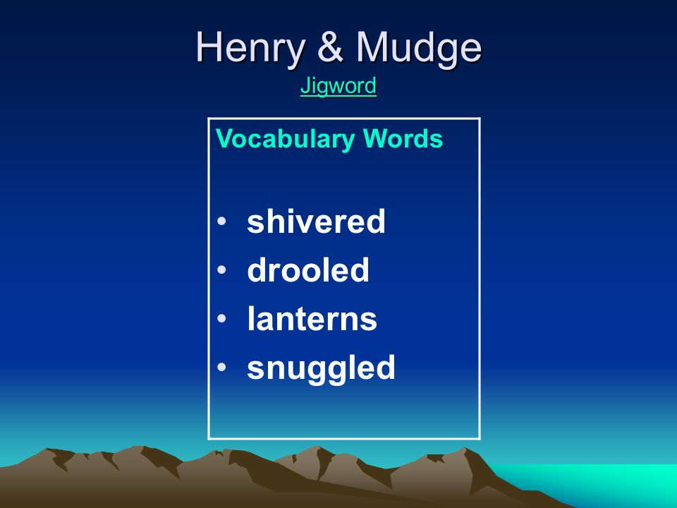 Henry & Mudge Jigword Jigword High Frequency Words love mother father straight bear couldn't build