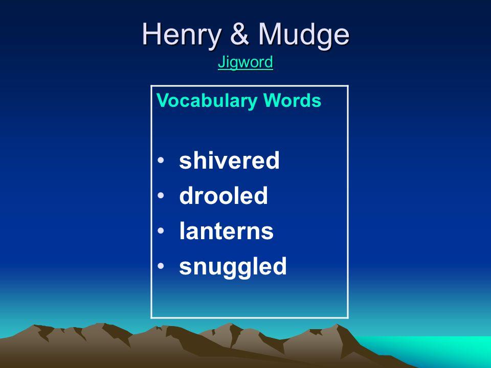 Henry & Mudge Jigword Jigword Amazing Words galaxy tranquil wildlife underneath identify detective fascinating slimy