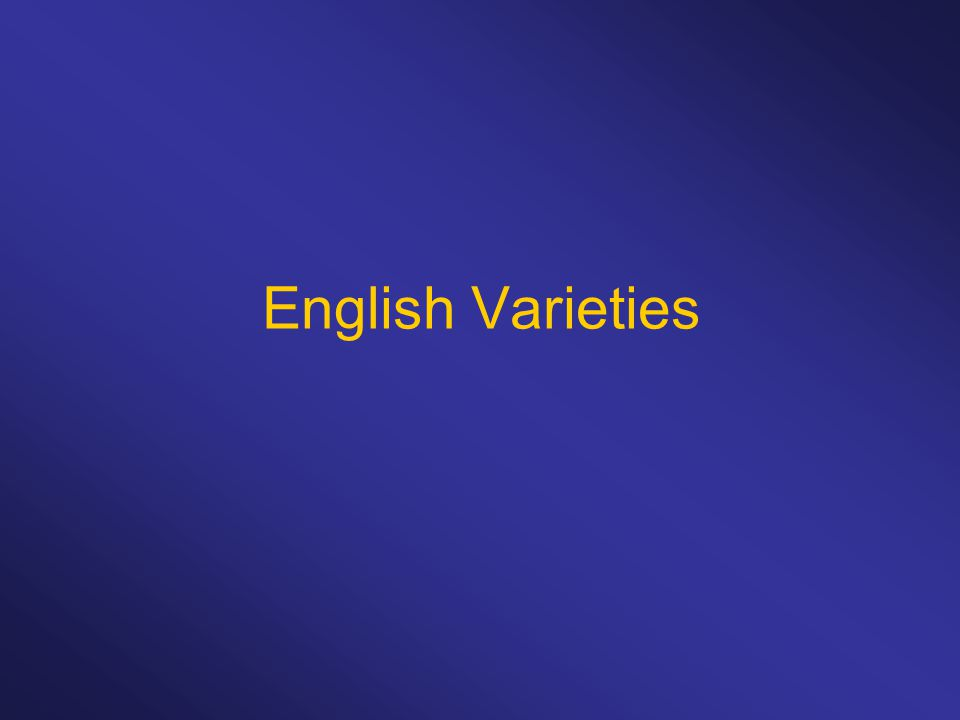 English Varieties