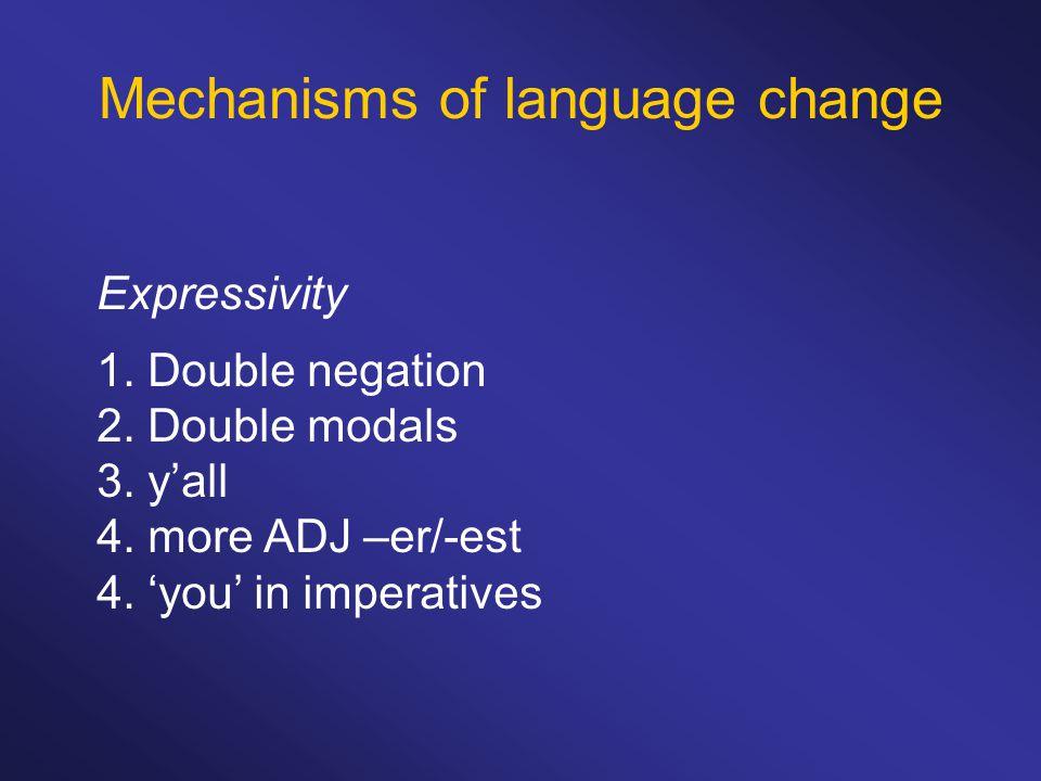 Mechanisms of language change Expressivity 1. Double negation 2.