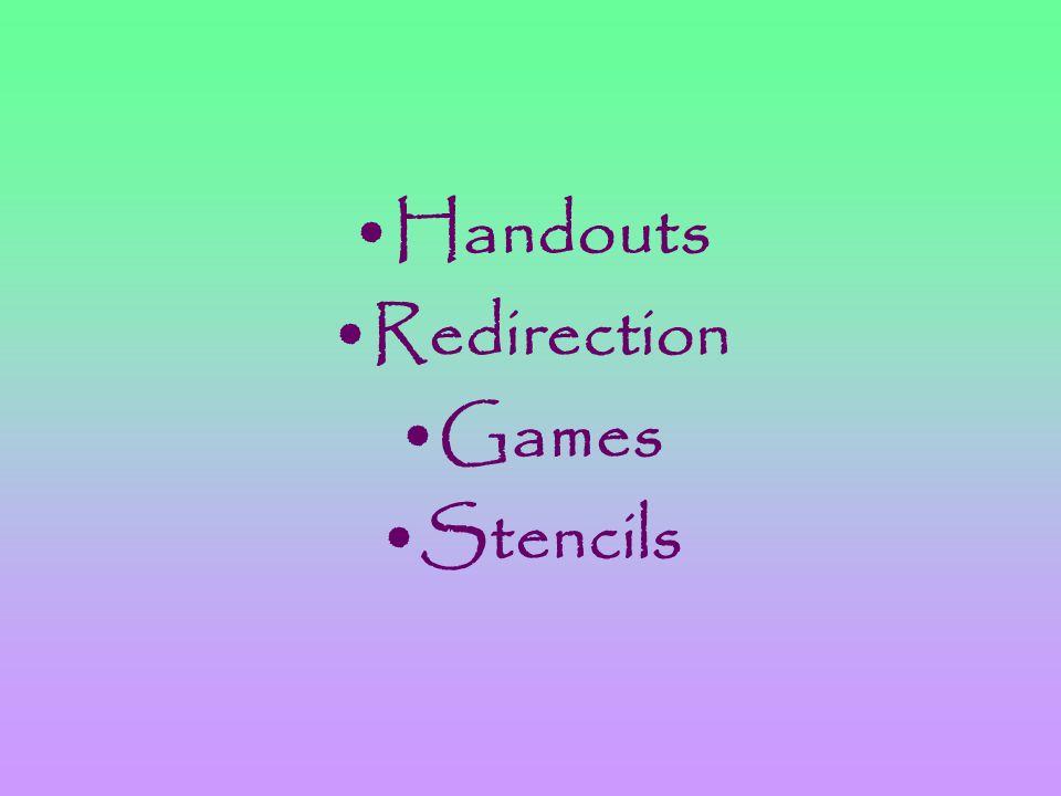 Handouts Redirection Games Stencils