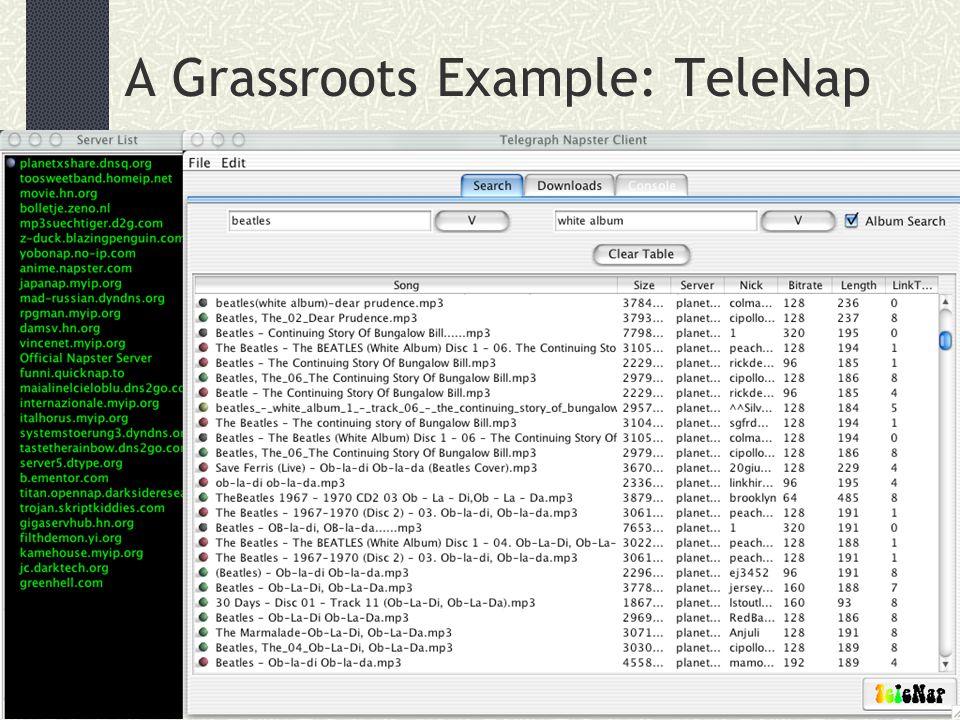A Grassroots Example: TeleNap