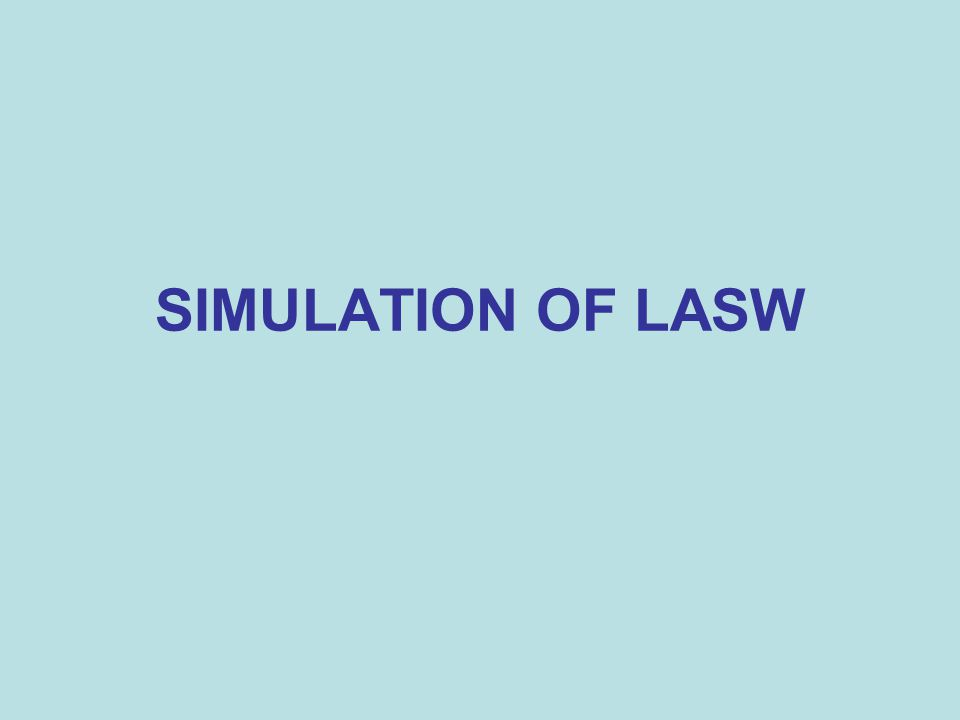 SIMULATION OF LASW