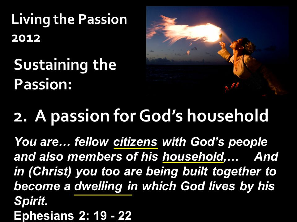 Sustaining the Passion: 2.