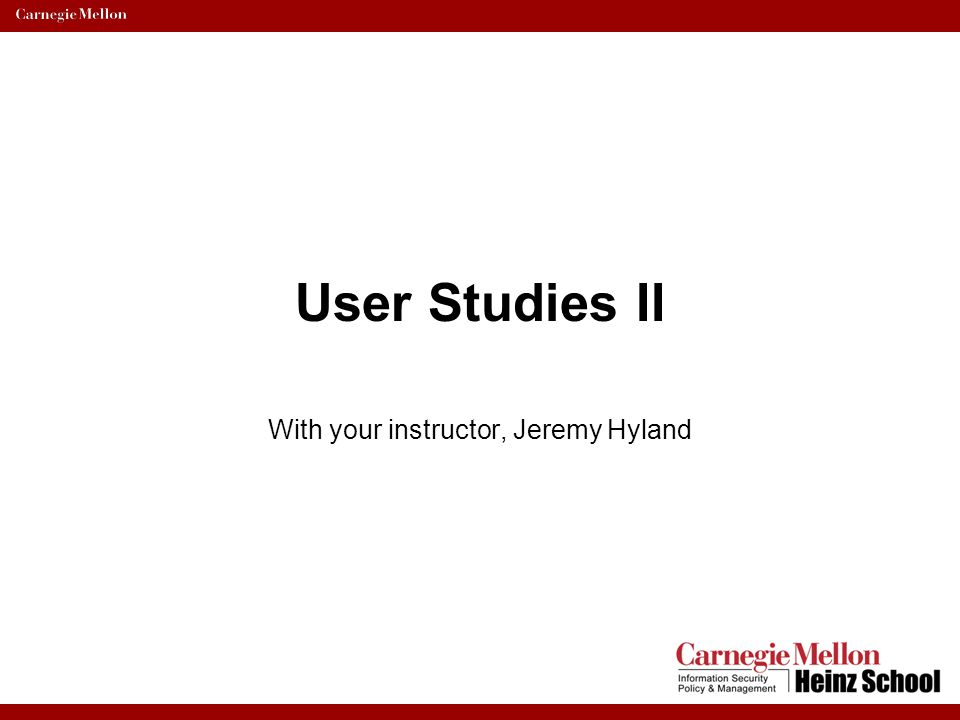 User Test Guidance: –Decide whose going to do what.