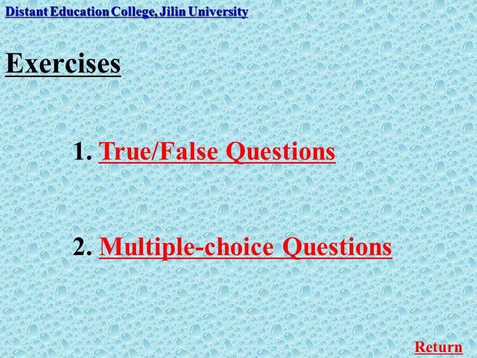 Multiple-choice Questions Distant Education College, Jilin University 4.