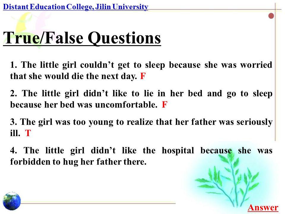 Multiple-choice Questions Distant Education College, Jilin University 6.