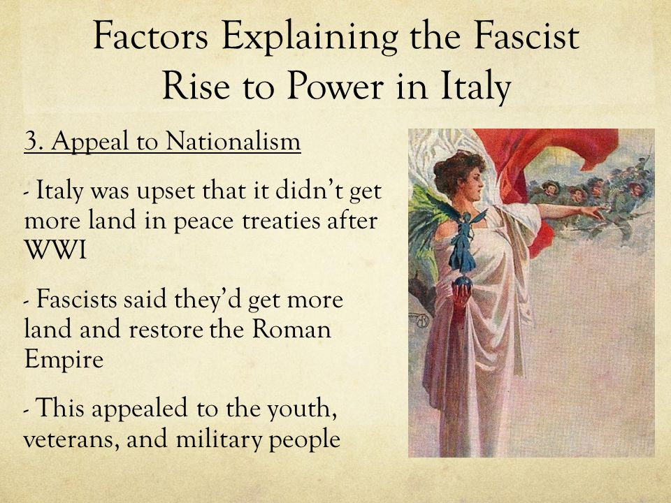 Fascism in Germany: The Nazis After WWI: small group of nationalists formed the National Socialist (Nazi) Party Attacked democracy Promised to save Germany from Communism Advocated extreme nationalism Wanted dictatorship