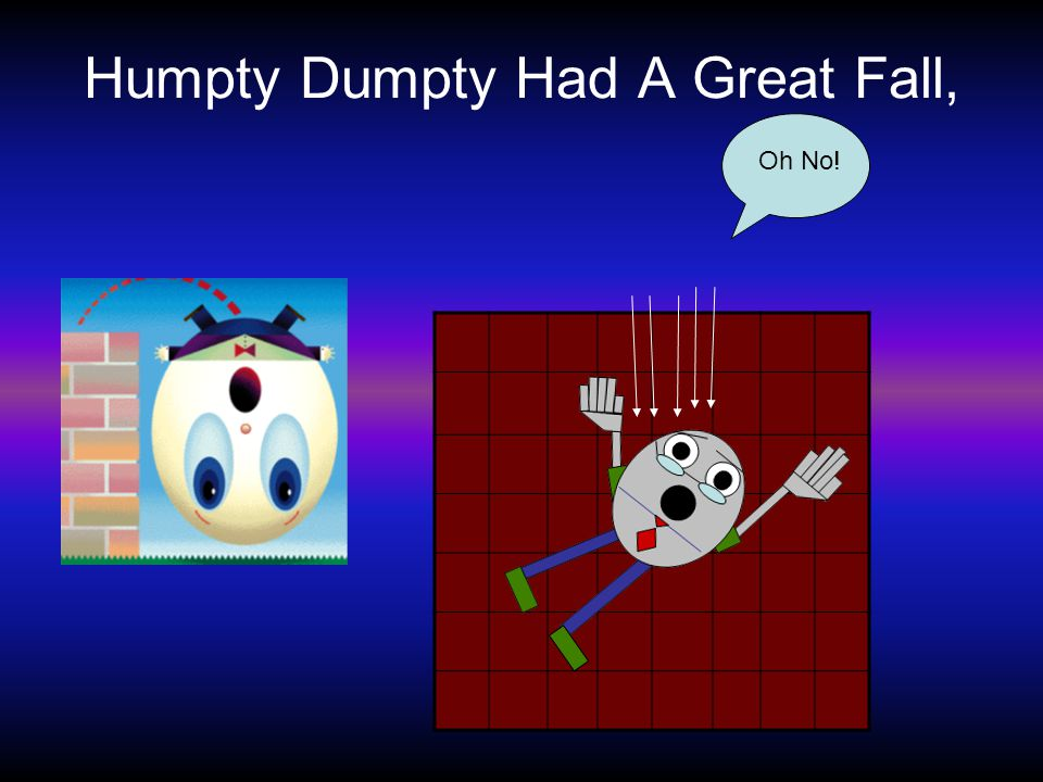 Humpty Dumpty Had A Great Fall, Oh No!