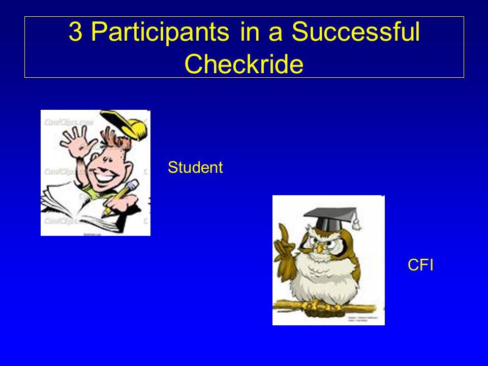 3 Participants in a Successful Checkride Student CFI