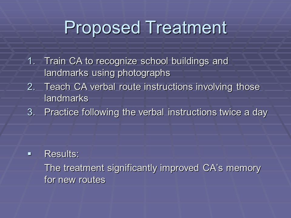 Questions that still need to be answered  Did CA actually have impairments in his executive functioning.