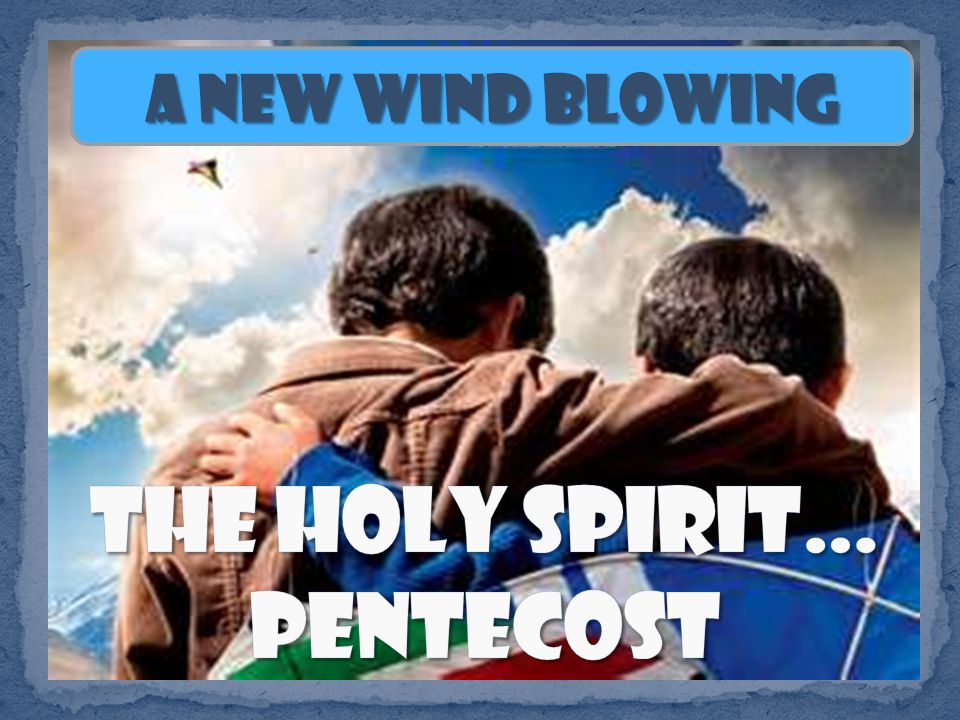 Then, it says, they were filled with the Holy Spirit.