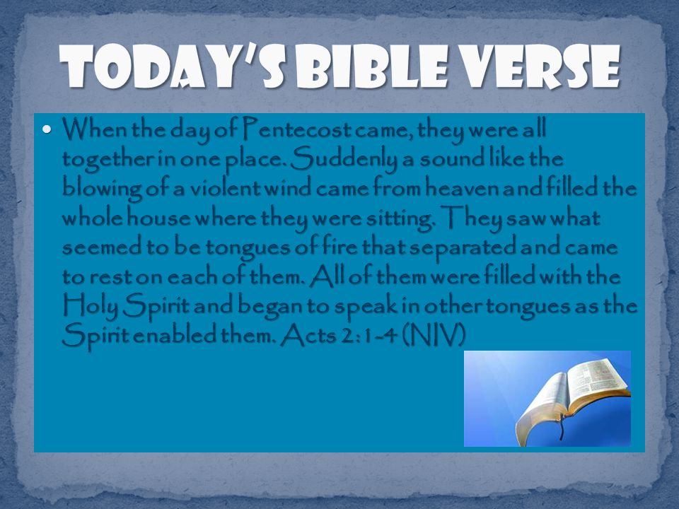 Another way we can know that the Holy Spirit is there is that we can see him moving people to do God s will.