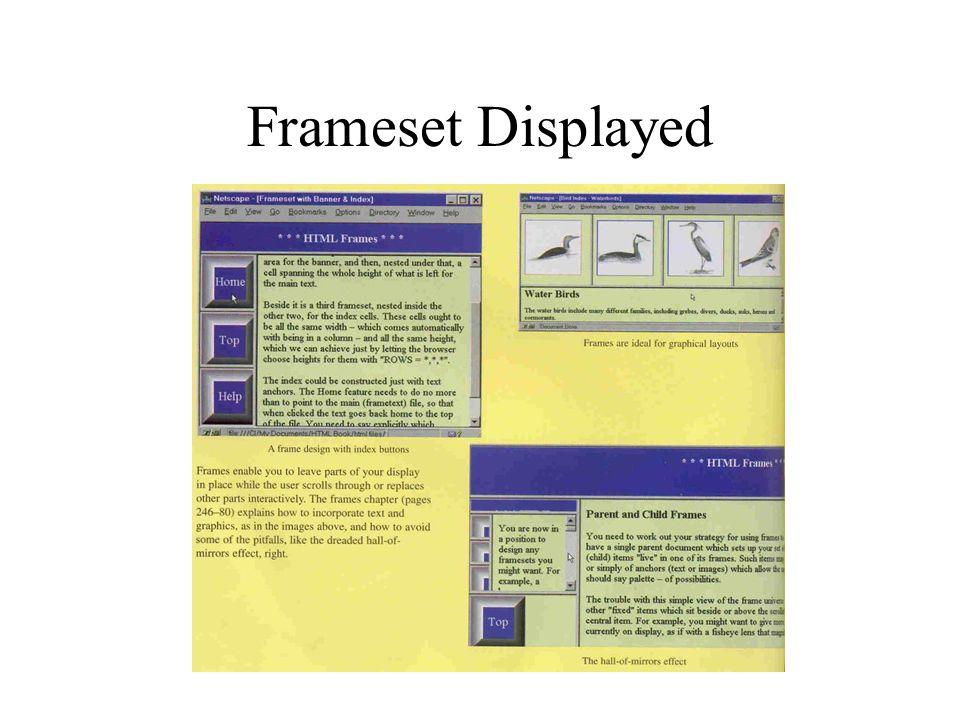 Frameset Displayed