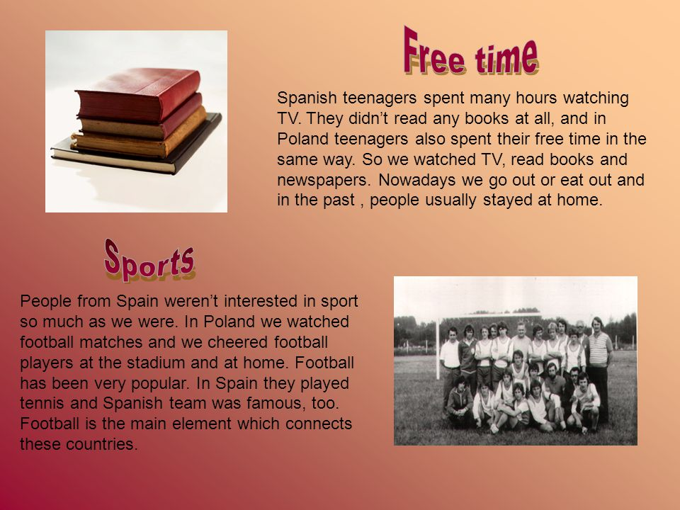 Spanish teenagers spent many hours watching TV.