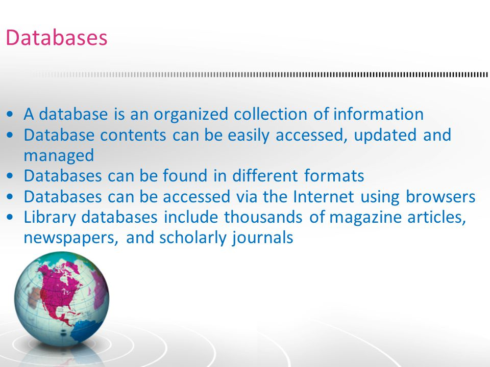 QUESTION: Can't I find the information contained in databases if I use Internet search engines.