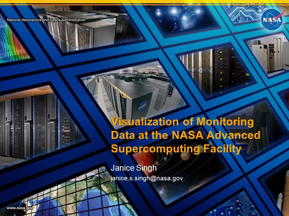 Visualization of Monitoring Data at the NASA Advanced Supercomputing Facility Janice Singh janice.s.singh@nasa.gov