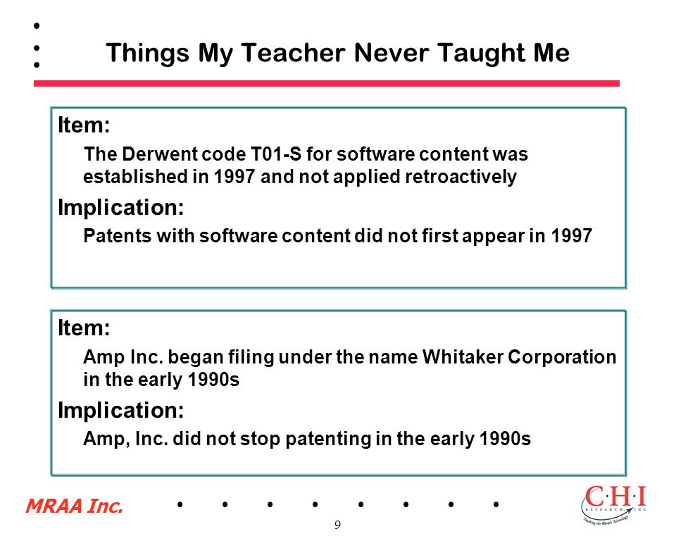 MRAA Inc. 9 Things My Teacher Never Taught Me Item: Amp Inc.