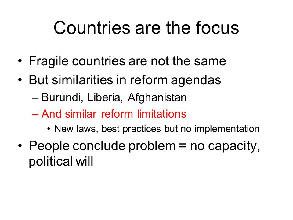 The range of ideas about capacity constraint in Afghanistan is large Capacity problem about –Institutional deficiency, structural deficiency, weak enabling environment, authority constraints (delegation), lack of information, etc.