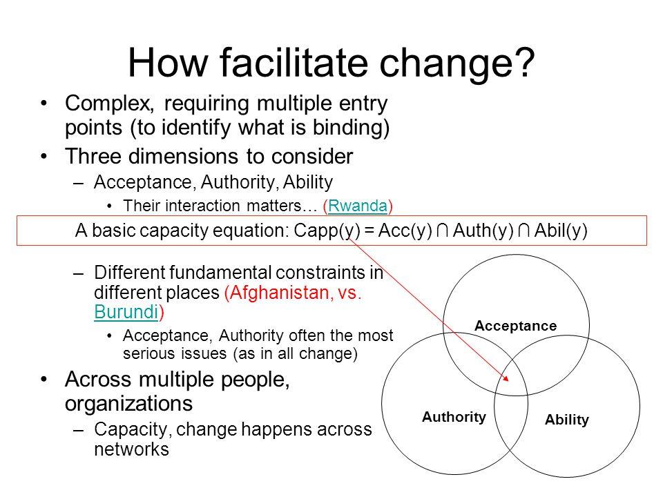 How facilitate change.