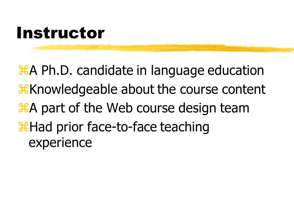 Instructor zA Ph.D.
