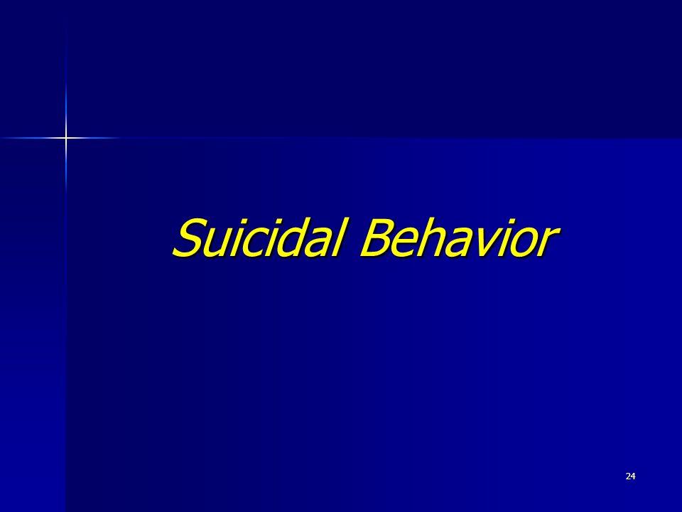 24 Suicidal Behavior