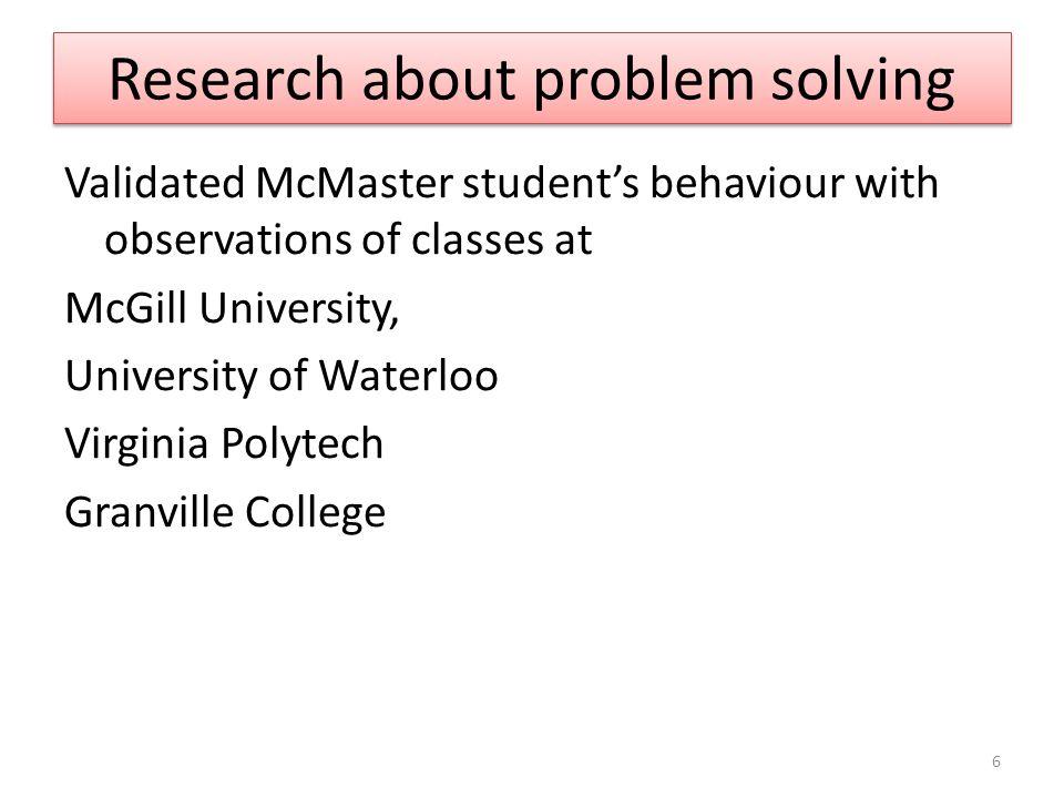 Year 1 students: define problem Task: define the problem 7