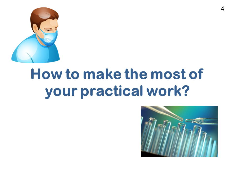How to make the most of your practical work 4