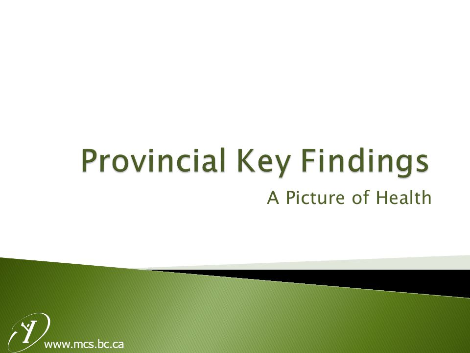 www.mcs.bc.ca  14% of females and 9% of males did not get medical help when they felt they needed it.