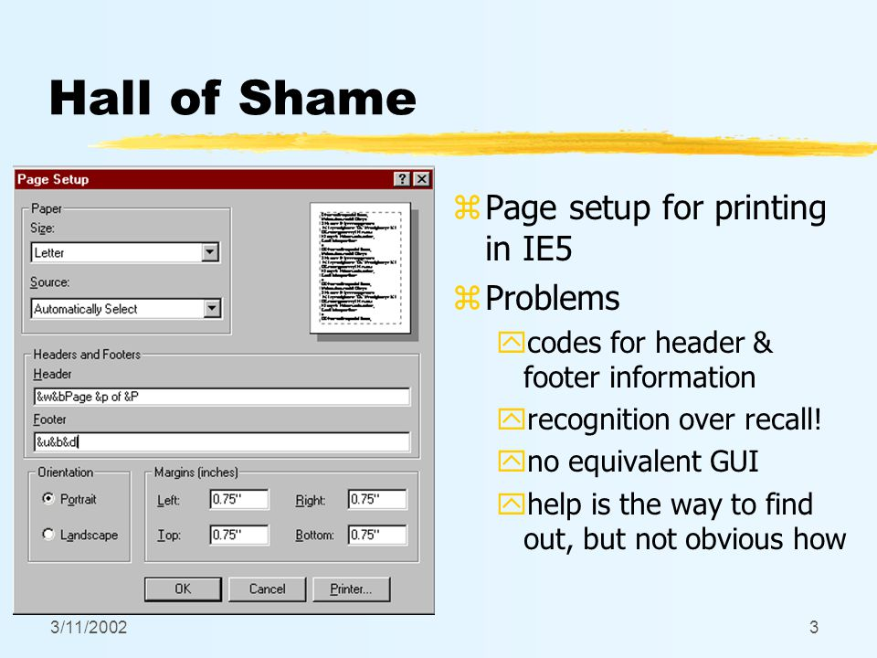 3/11/20024 Hall of Fame or Shame? z Password dialog in Eudora Pro for Mac