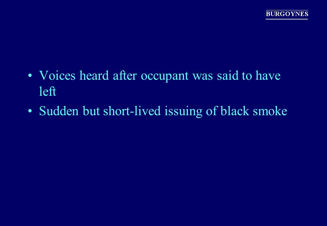 Sudden but short-lived issuing of black smoke