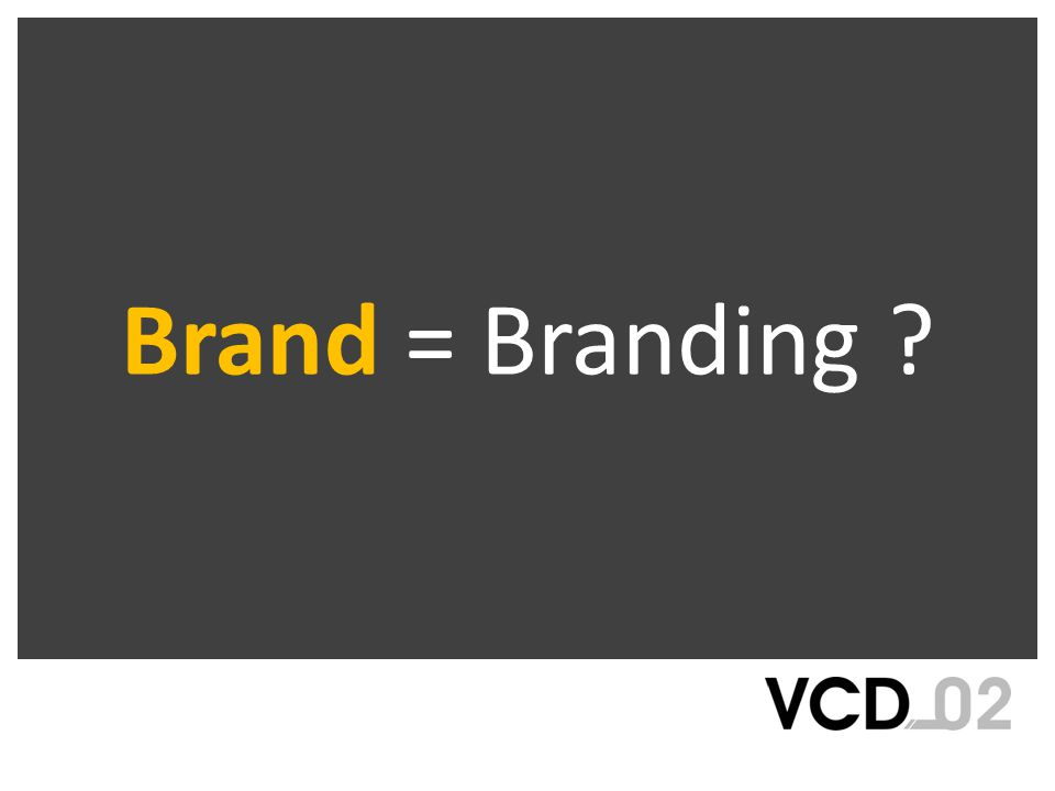 Brand = Branding