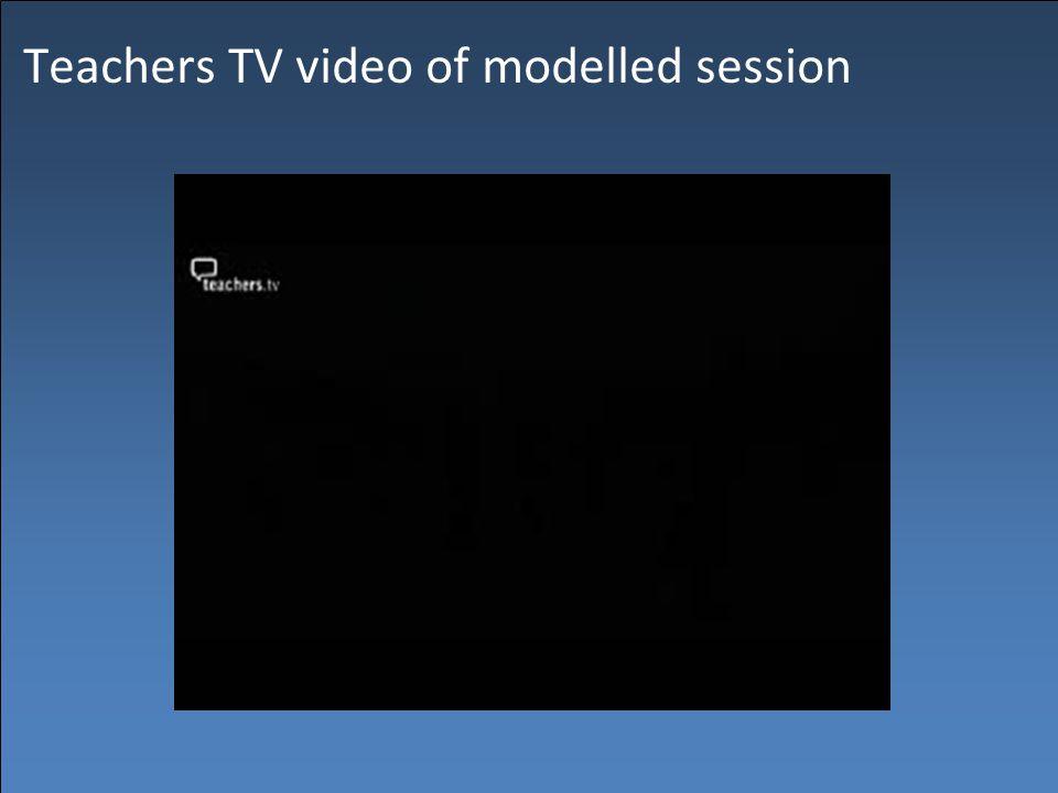 Teachers TV video of modelled session