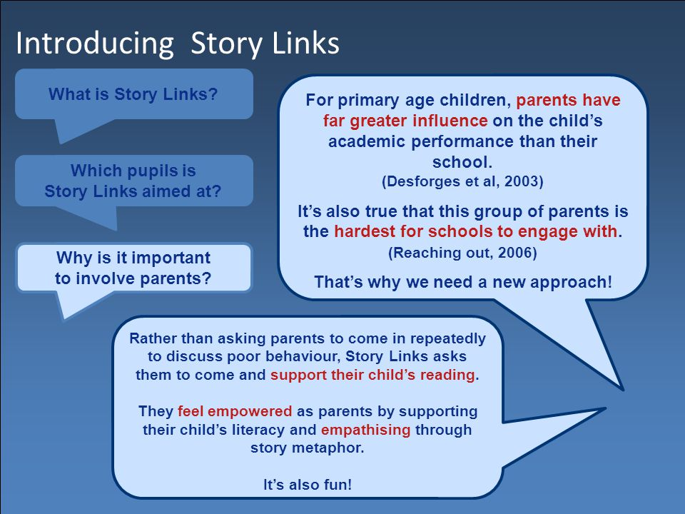 Introducing Story Links What is Story Links.Which pupils is Story Links aimed at.