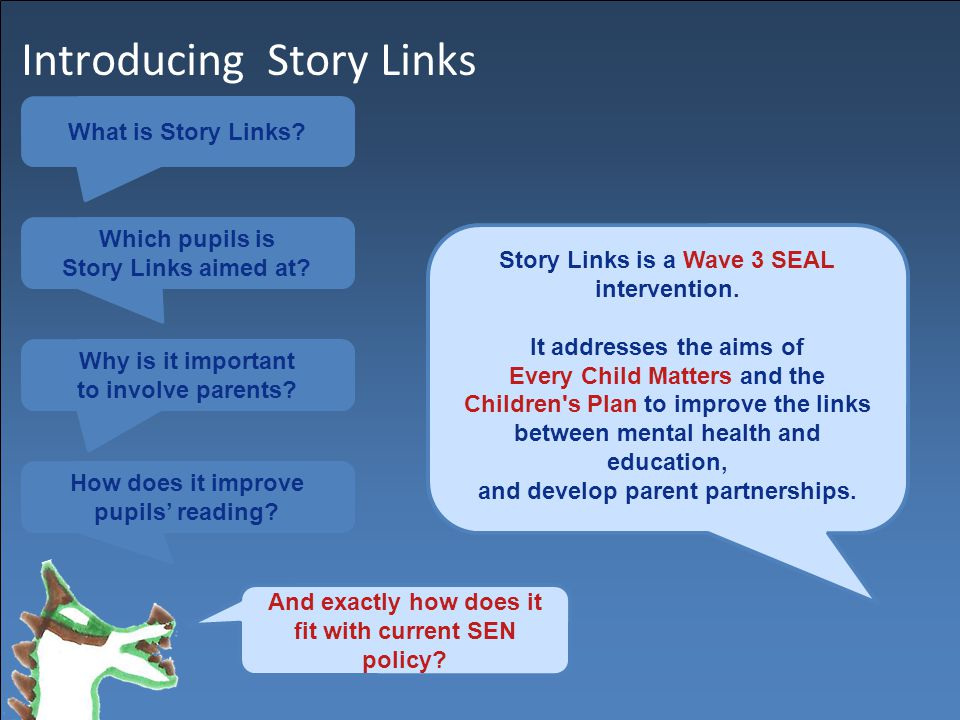 Introducing Story Links What is Story Links. Which pupils is Story Links aimed at.