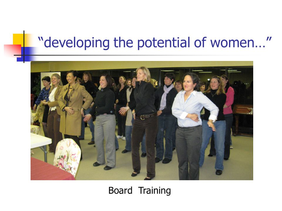developing the potential of women… Board Training