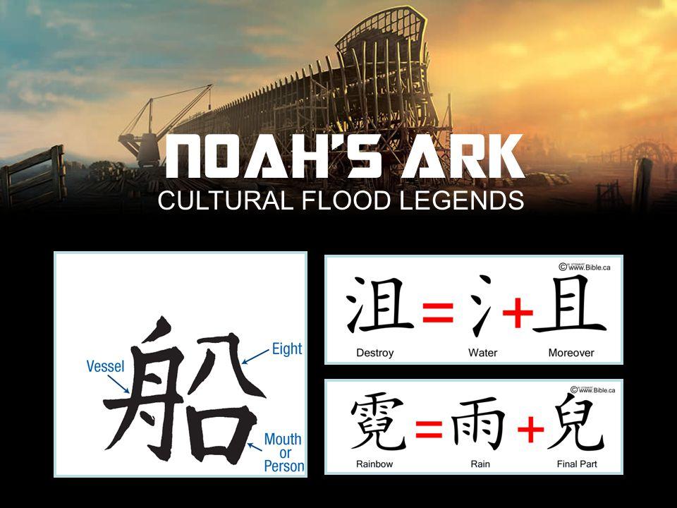 CULTURAL FLOOD LEGENDS NOAH'S ARK