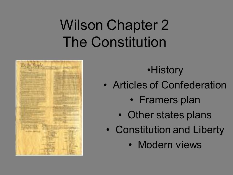 More principles 3.Separation of powers - 3 branches and basic powers are distributed among them 4.Checks and balances - each branch is subject to constitutional restraints by the other 5.Federalism - division of power among a central government and the states