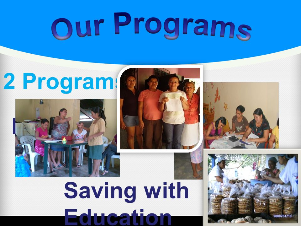The program is based on solidarity.The microloans are designed for business activities.