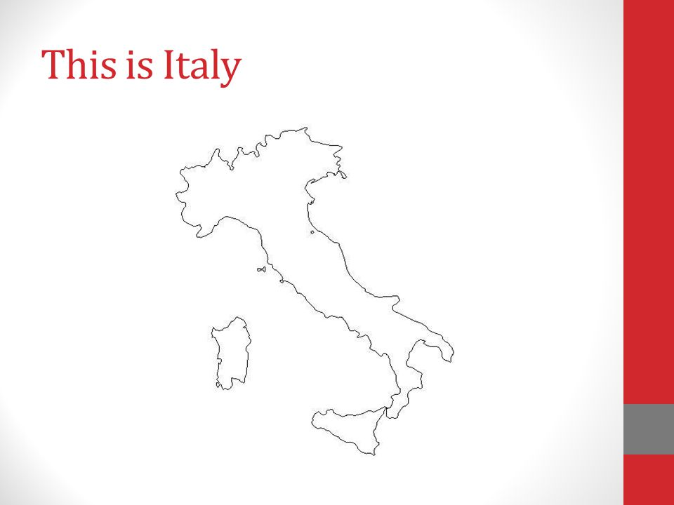 This is Italy