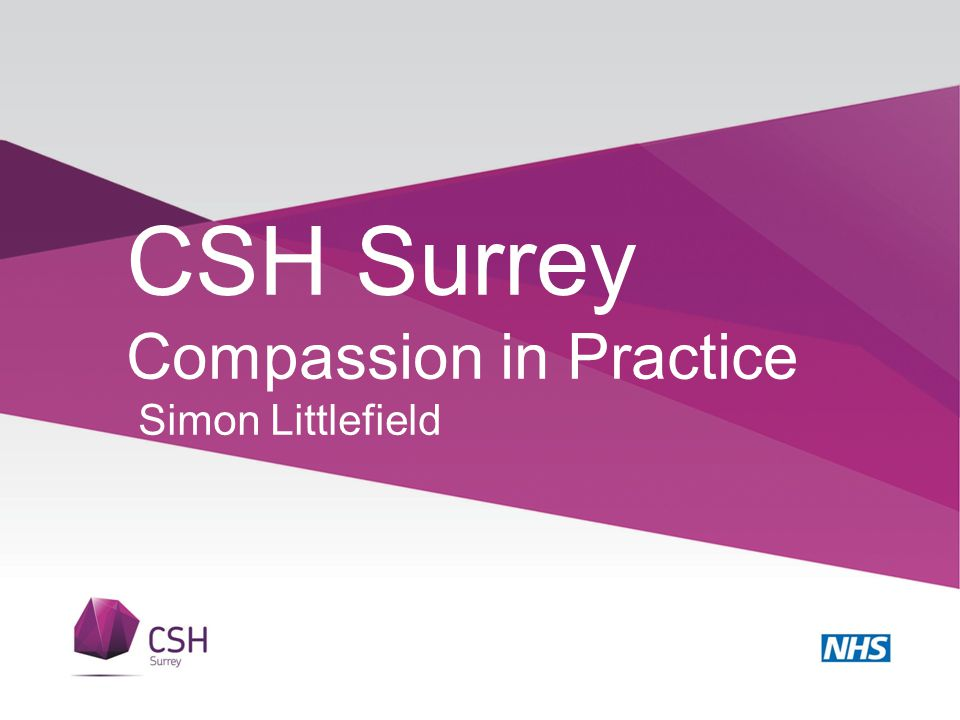 CSH Surrey Compassion in Practice Simon Littlefield