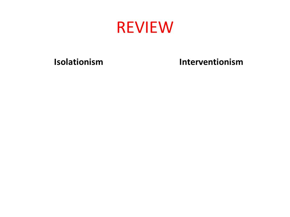 REVIEW IsolationismInterventionism