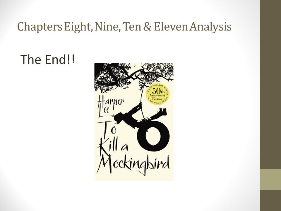 Chapters Eight, Nine, Ten & Eleven Analysis The End!!