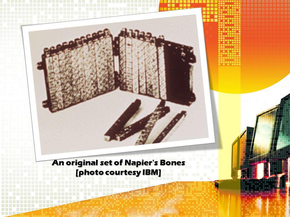 An original set of Napier's Bones [photo courtesy IBM]
