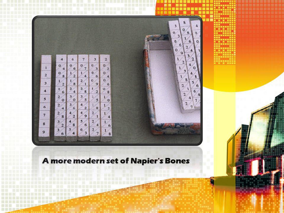 A more modern set of Napier's Bones