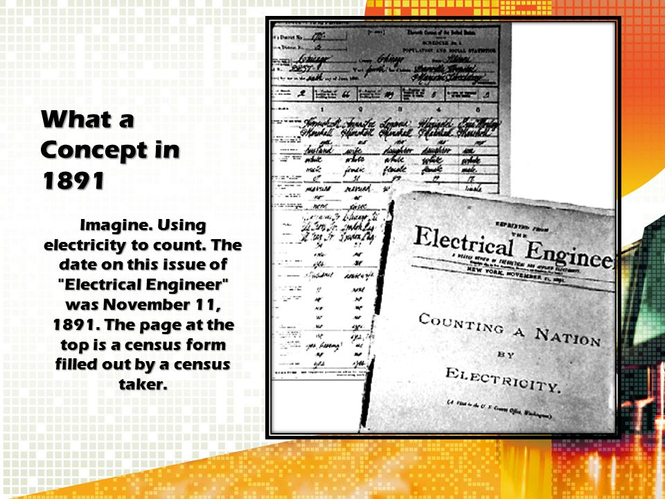 What a Concept in 1891 Imagine. Using electricity to count. The date on this issue of