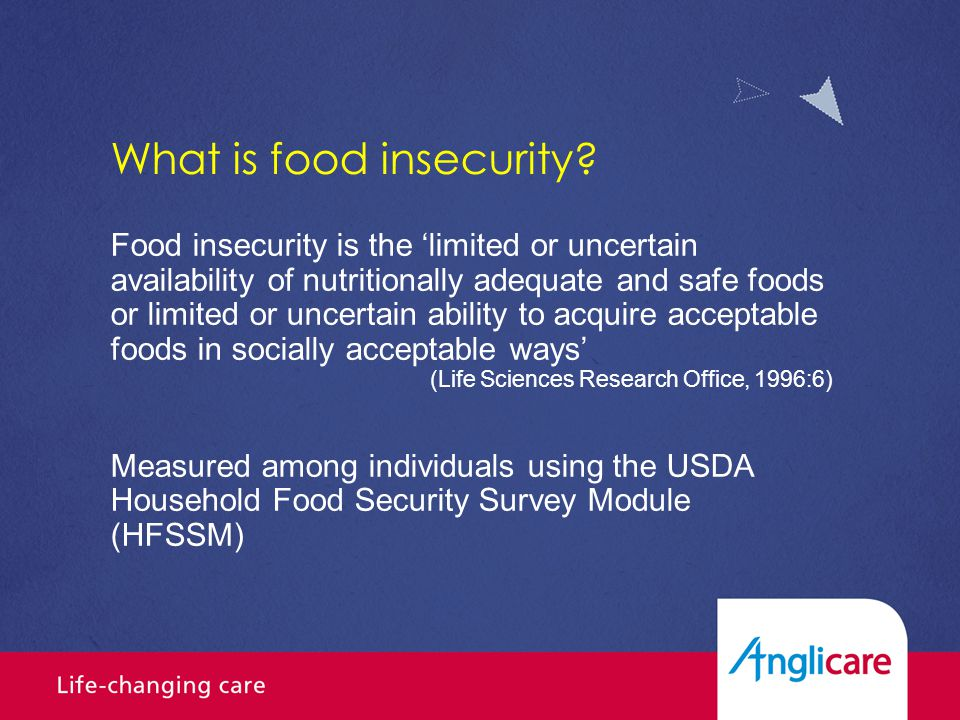 What is food insecurity.