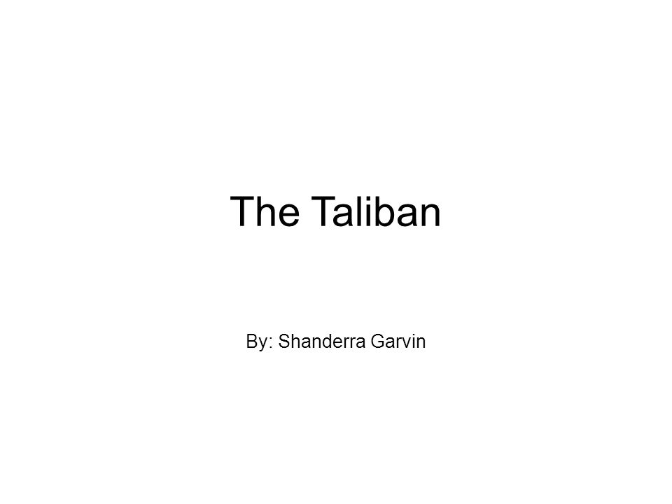 Who are the Taliban.